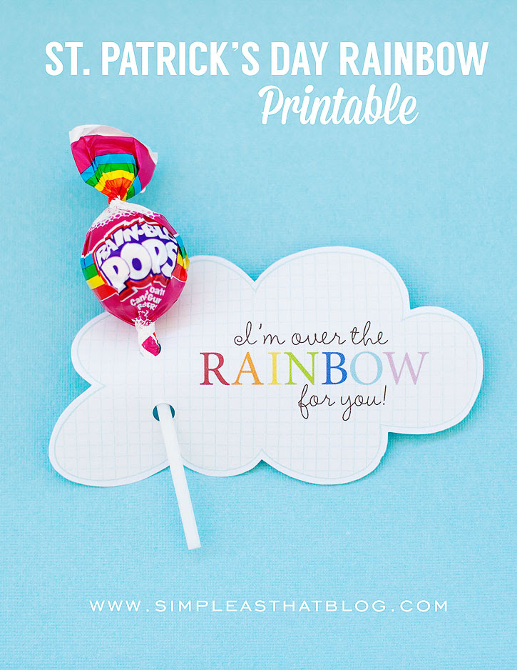 St Patrick's Day Rainbow Printable by Simple as That