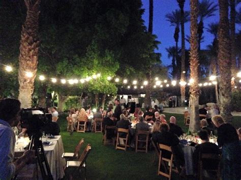 Our wedding at the Cree Estate in Palm Springs, catered by