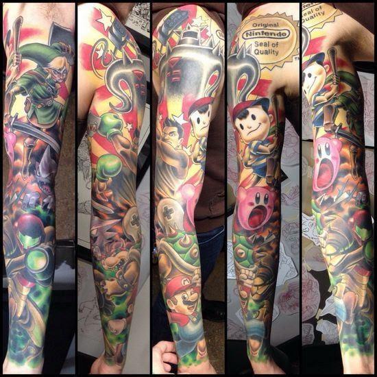 Video Game Tattoos For Men Gamer Tattoo Ideas For Guys