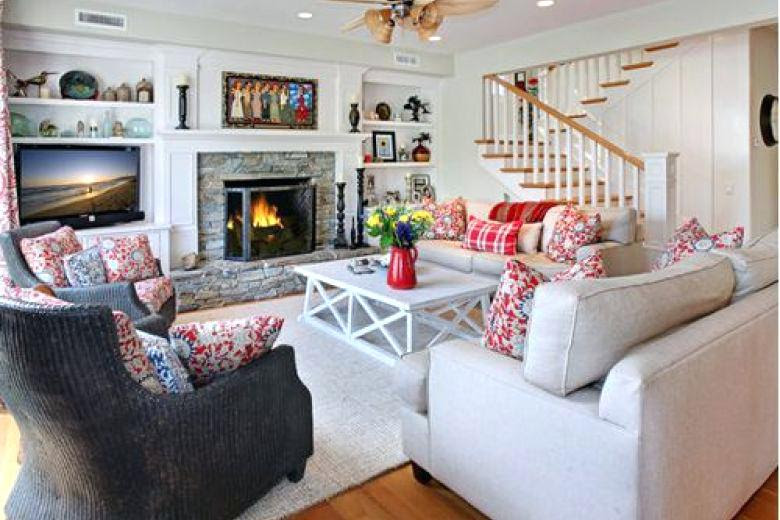 Living Room Cape Cod Living Room Contemporary On Inside Download