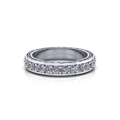 Etched Diamond Wedding Band   Jewelry Designs