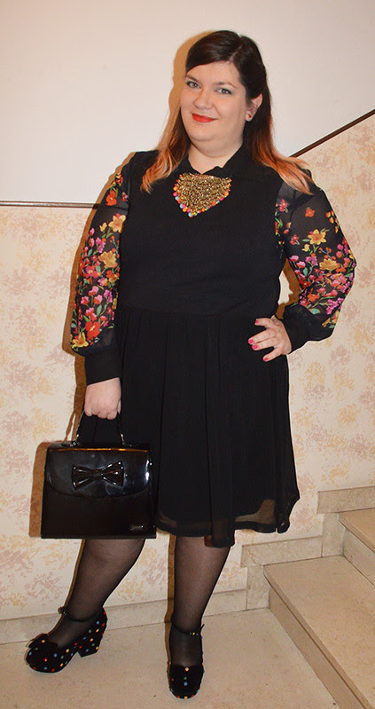 Oufit: black and flowers
