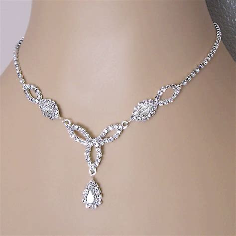 FASCINATION CLEAR RHINESTONE BRIDESMAID JEWELRY SET