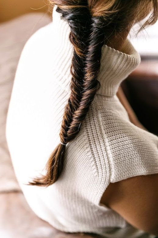 13 Le Fashion Blog 21 Braid Ideas For Long Hair Sleek Fishtail Braided Ponytail Hairstyle Inspiration Via Cup Of Jo