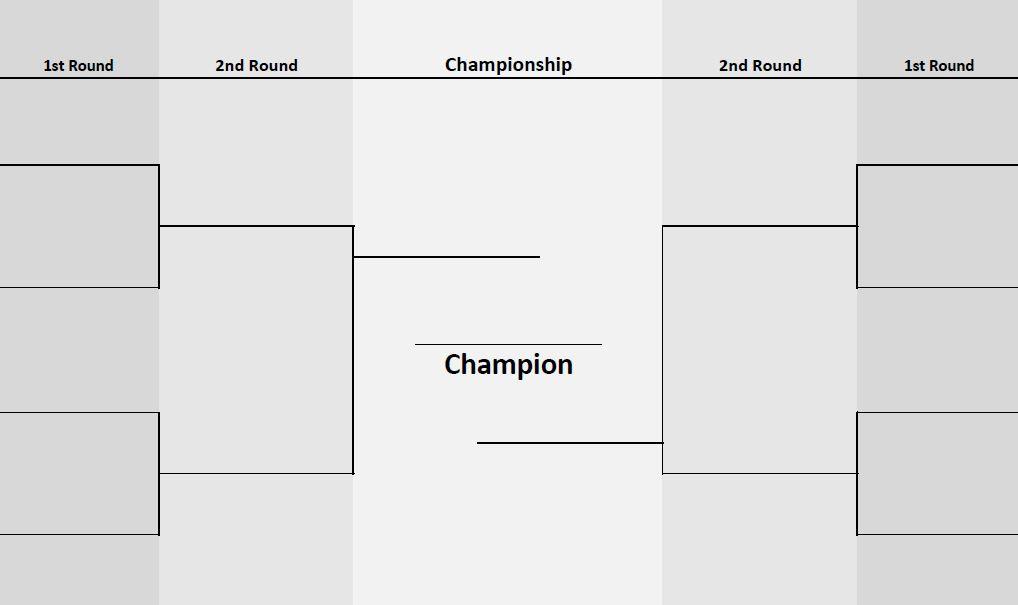 8 teams Two-sided Bracket   PrinterFriendly