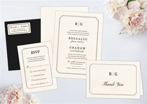 Wedding Invitation Packages by Wedding Paperie