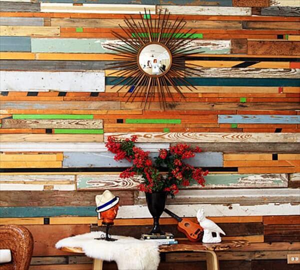 DIY Wall Art: Wooden Pallet Wall Decoration   101 Pallets