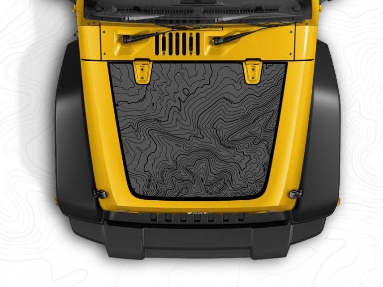 Le capot personnalisable des Jeep aux USA