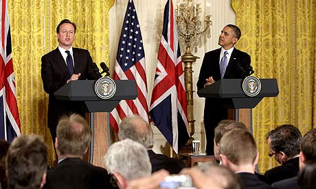 President Barack Obama meets Prime Minister David Cameron in Washingto