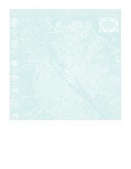 2b Map 1654 Plan de Boisseau VERY LIGHT TURQUOISE - 7x7 inch