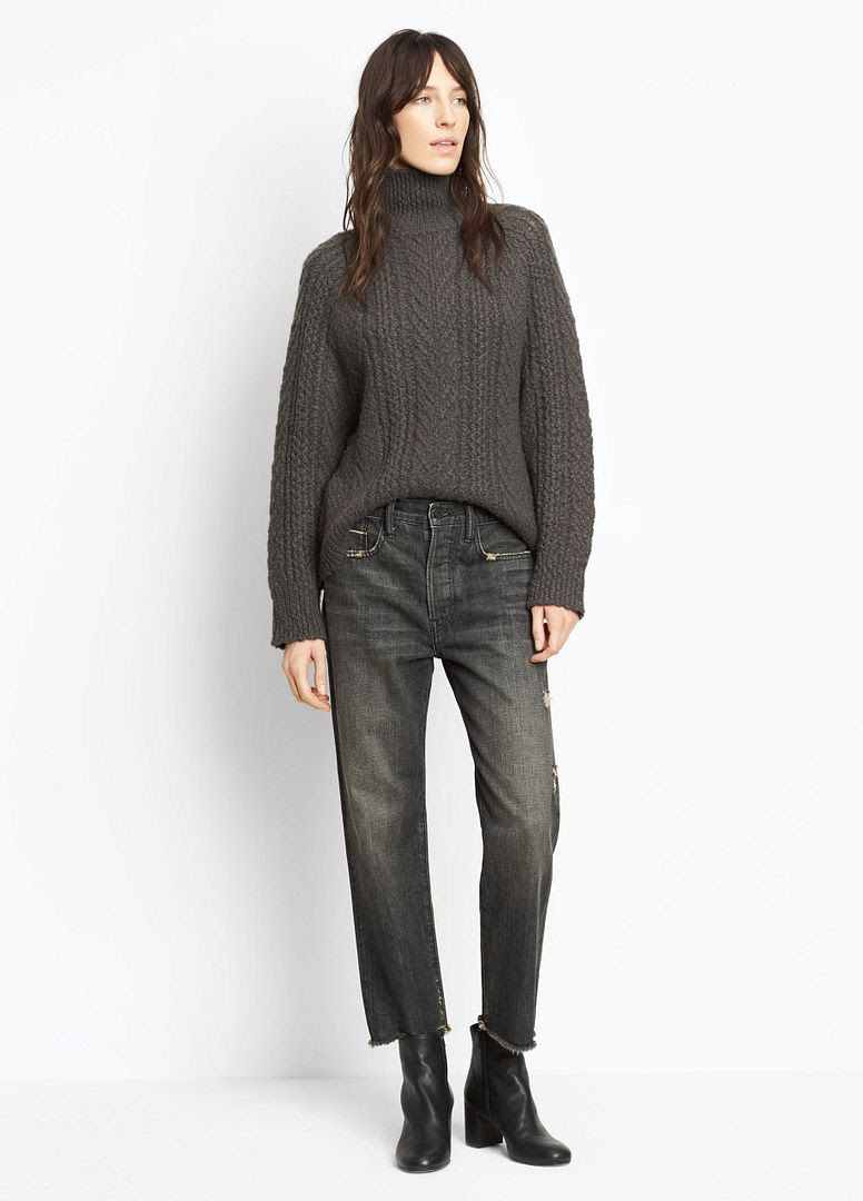 Vince Union Slouch Jeans in Heirloom Black Wash