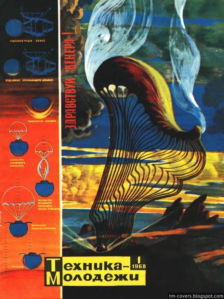 Техника — молодёжи, обложка, 1968 год №1