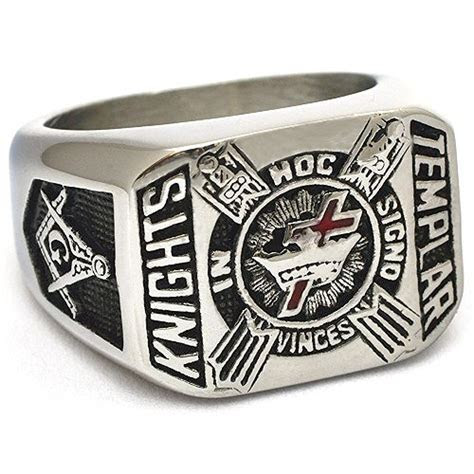 Freemason Knights Templar Cross Masonic Signet Ring