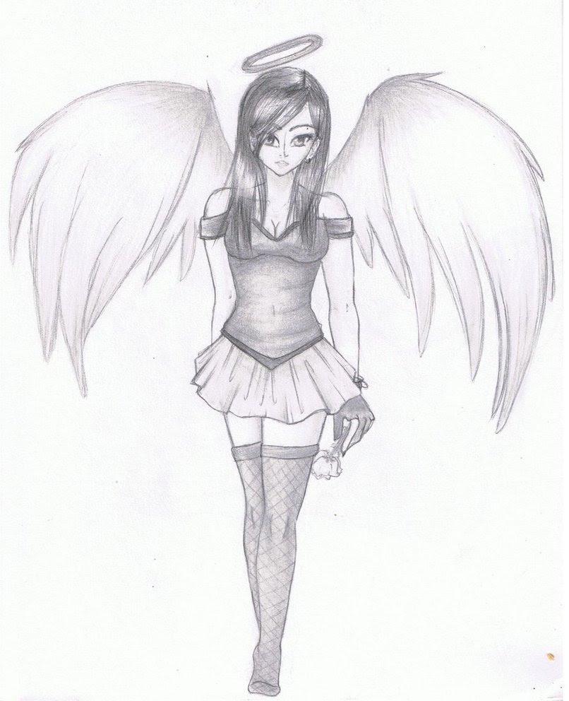 Anime Angel Drawings Easy Ruang Belajar Siswa Kelas 1