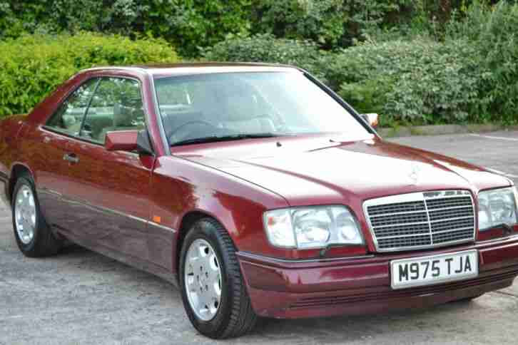 1994 MERCEDES E320 COUPE AUTO RED W124 LOVELY UNABUSED ...