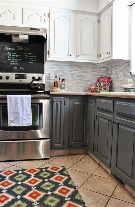 remodelaholic grey  white kitchen makeover