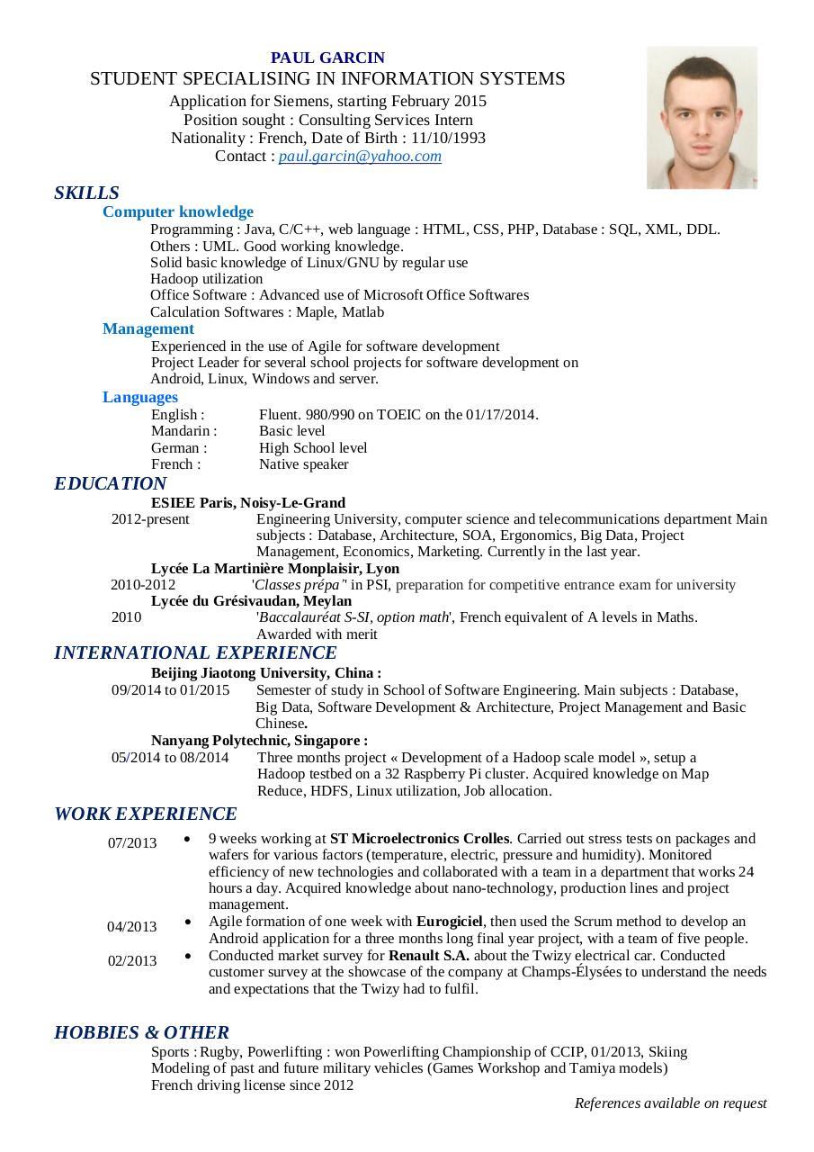 data scientist resume sample pdf