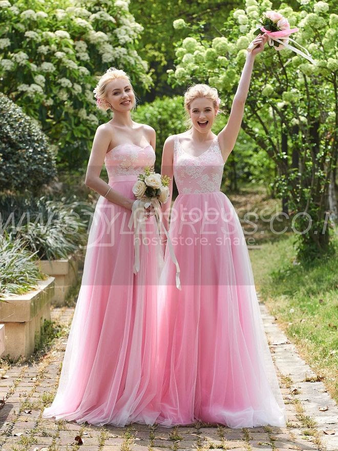 Winter Prom Natural V-Neck Wedding Party Sleeveless Floor-Length A-line Dress