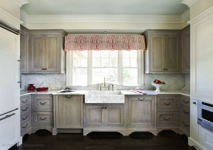 Wire Brushed Oak Cabinets - Country - kitchen - Precision ...