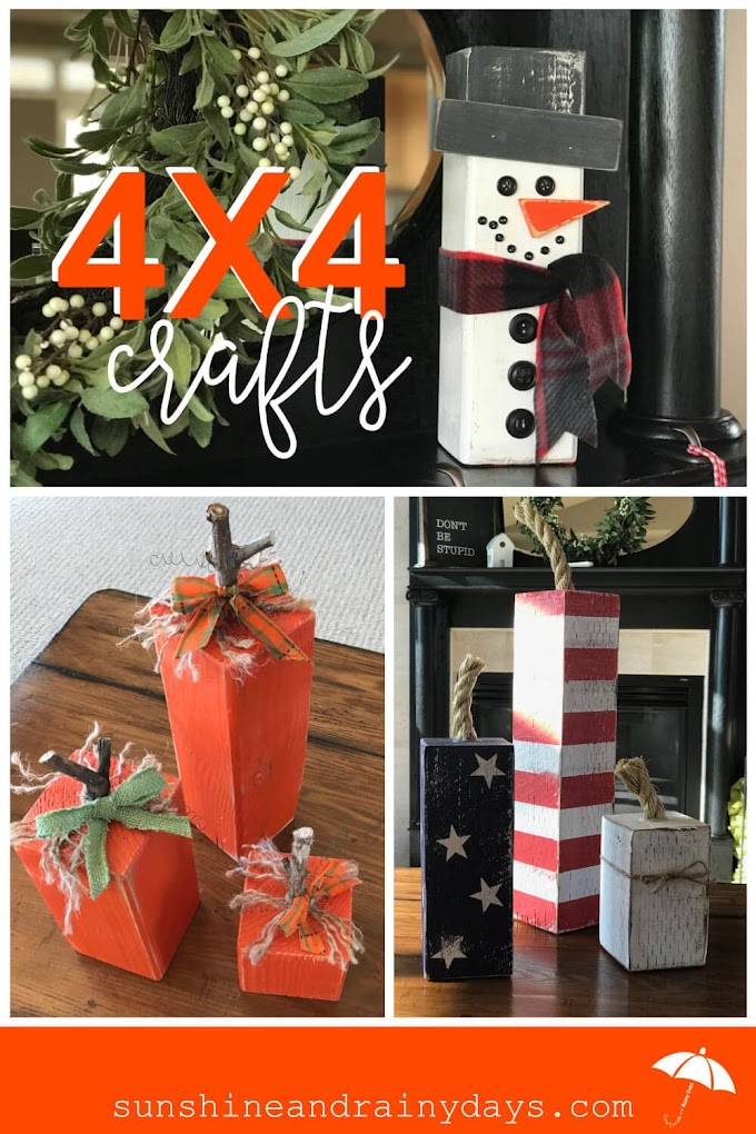 4x4 Wood Craft Projects