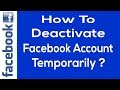 How to Deactivate Your Facebook Account - Simplest Way!