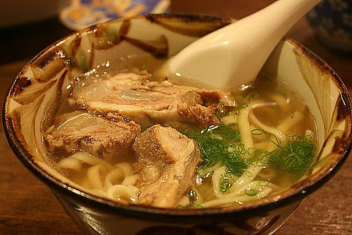Noodles with pork ribs