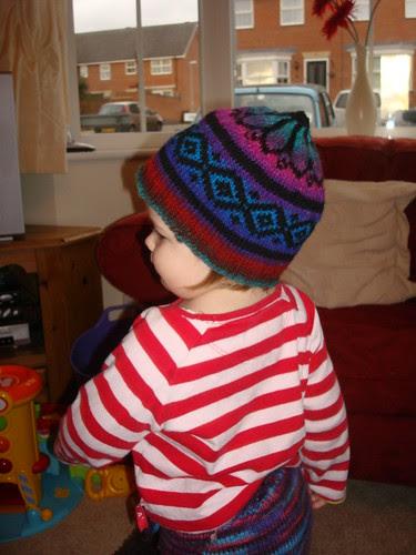 Fake fair isle hat 1