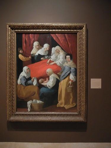 DSCN7666 _ Birth of the Virgin, c. 1627, Francisco de Zurbarán (1598-1664) Norton Simon Museum, July 2013