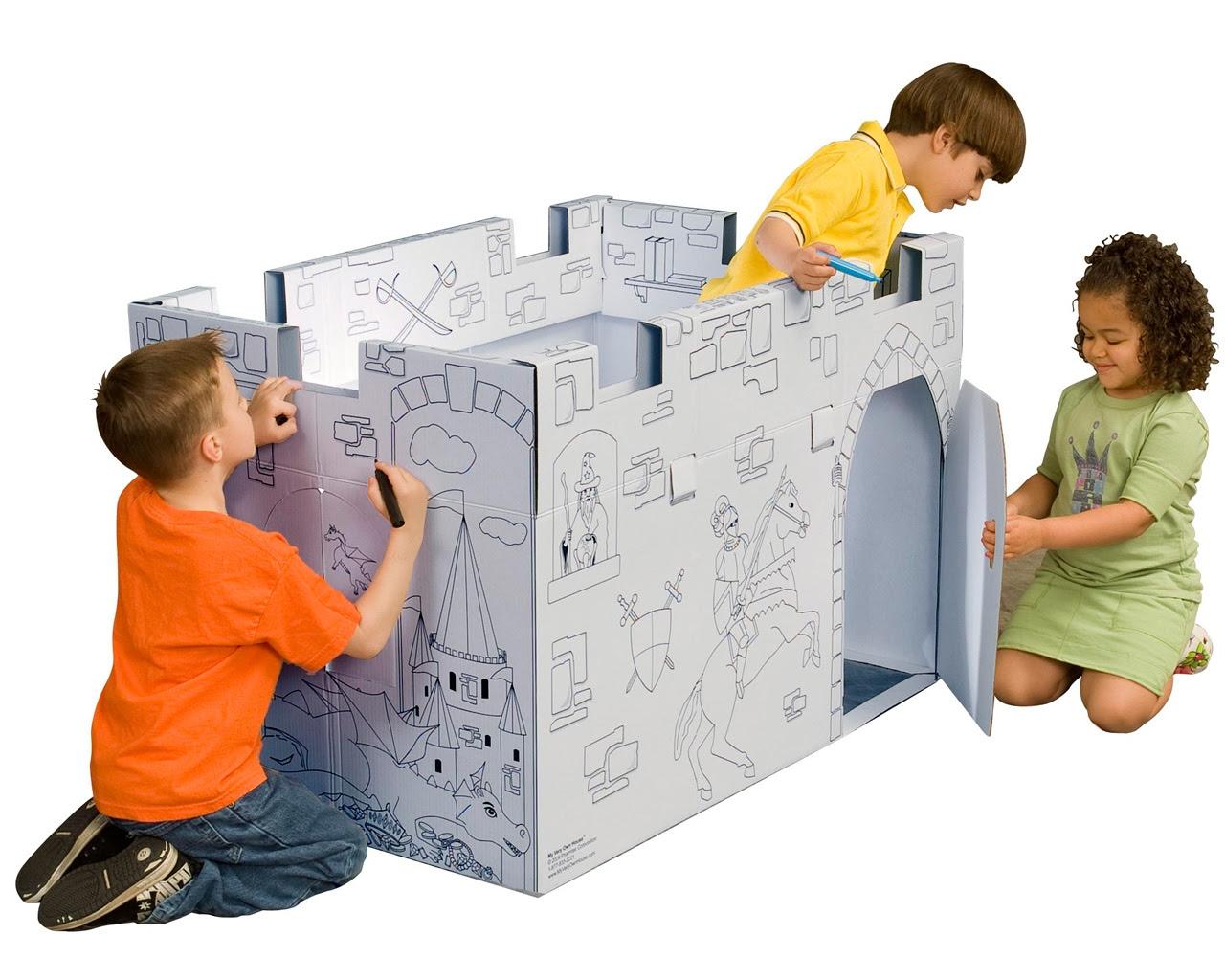 Cardboard Coloring Castle Life size | Cardboard-castle