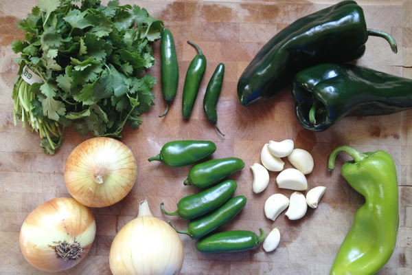pre-chopped ingredients for salsa