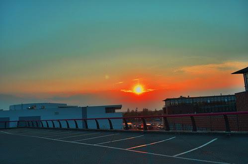 Sonnenuntergang in Potsdam