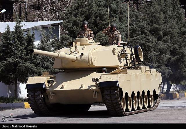 El Ejército iraní ha dado a conocer otro tanque de batalla principal de fabricación casera, apodado como Sabalan, durante una ceremonia en Teherán, 20 de abril de 2014. El nuevo tanque de batalla principal se dio a conocer por el general de brigada Ahmad Reza Pourdastan.