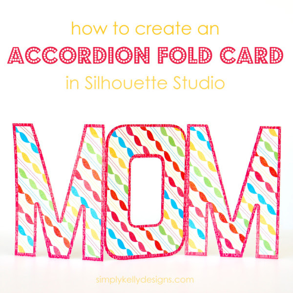 Silhouette Studio, accordion fold card, Silhouette tutorial