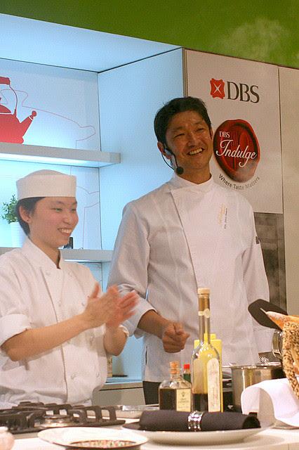 Chef Tomonori Danzaki (right) with his able assistant