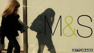 Shopper walks past M&S