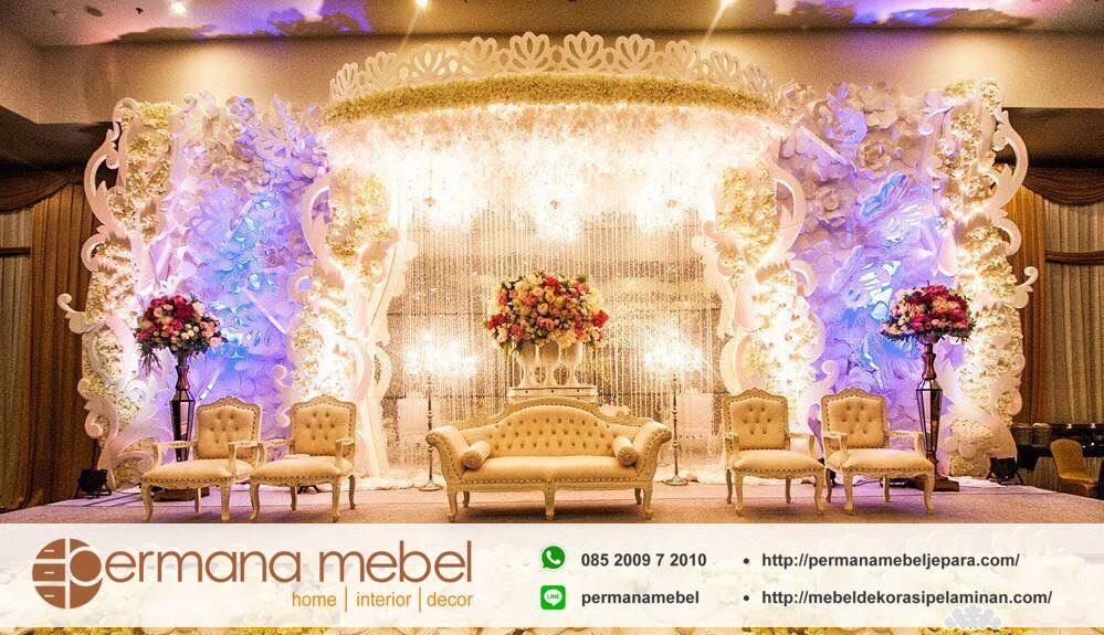 dekorasi pengantin karet ukir minimalis
