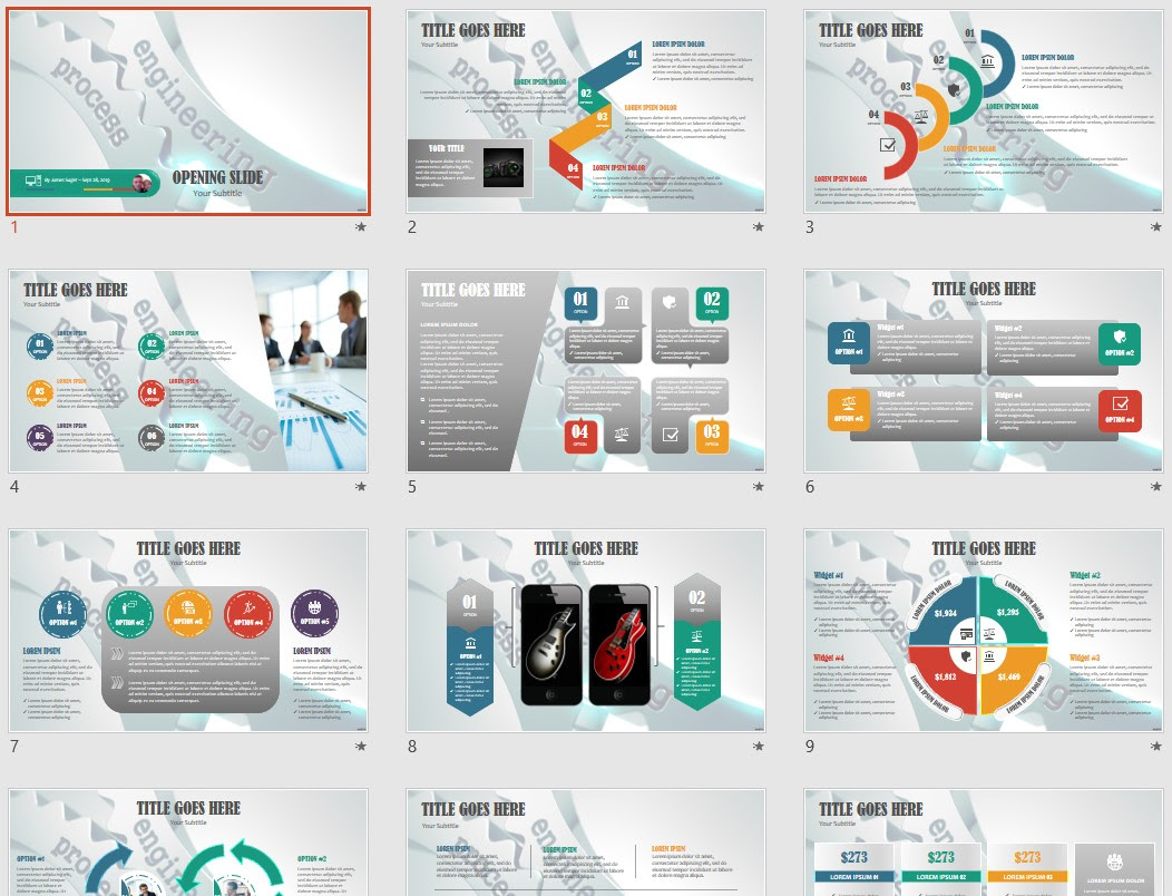 Engineering Process Powerpoint Template 134763