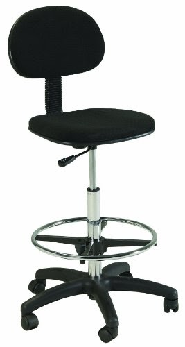 Martin Stiletto Drafting Height Chair Seating In Black