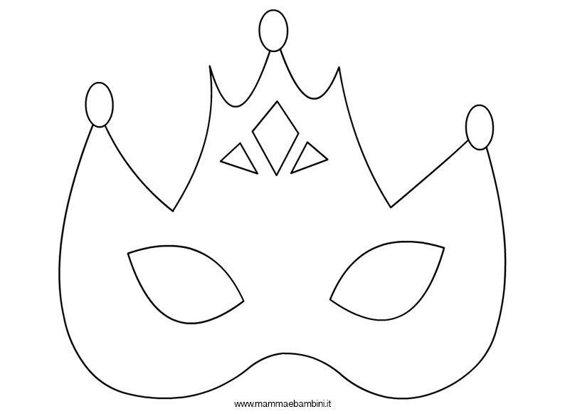 Maschera Principessa Da Colorare Mamma E Bambini