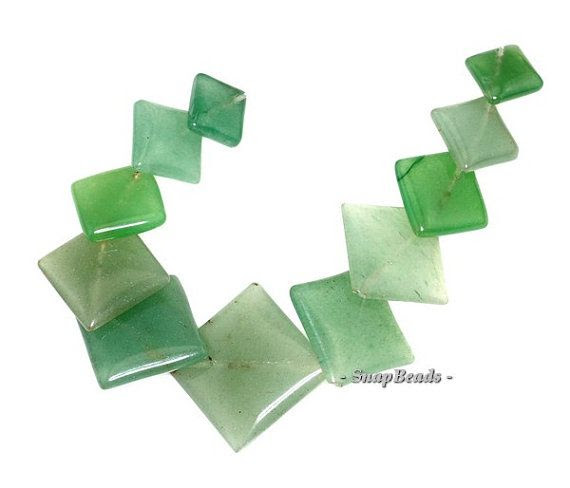 Parsley Bunch Green Aventurine Gemstone Green Loose Beads Graduated Set 11 Beads (90147447-145)