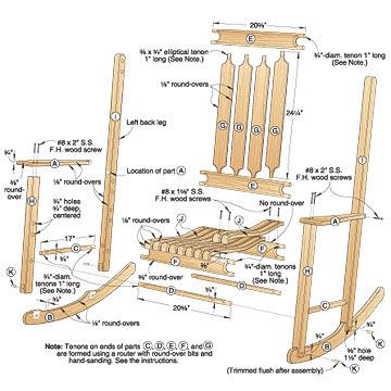 Classic Rocker Woodworking Plan