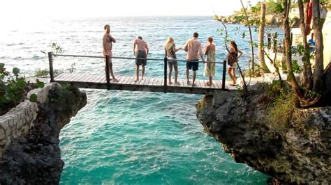 Jamaica   Cliff Jumping at The Rockhouse   Hyler Wedding