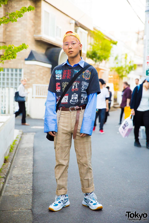 harajuku guy in resale  vintage streetwear w faith tokyo