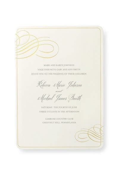 Print at Home Invitation Kit  Gold Foil   Gartner Studios