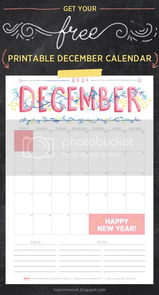 Happiness is... December 2014 Free Printable Calendar