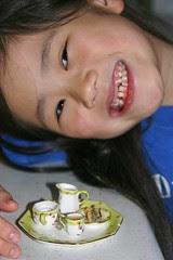 Sophia Missing Teeth and Food for Flossie