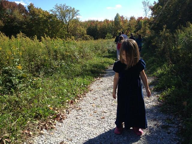 Ana walks in nature