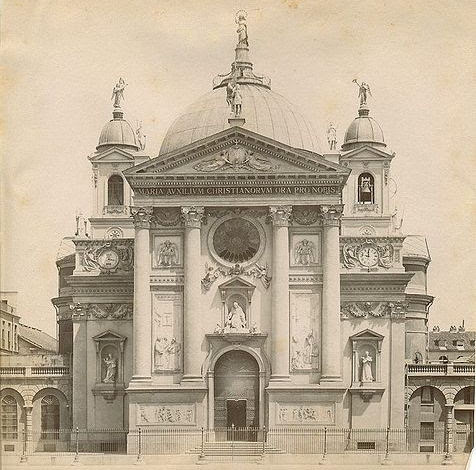 Picture of Basilica of Our Lady Help of Christians, Turin in the 1880s. St. John Bosco is buried here.