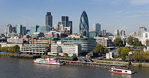 The City of London skyline as viewed toward th...
