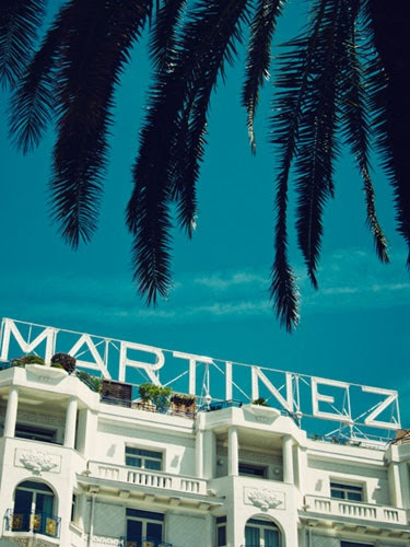 Hotel Martinez, Cannes, photo for Maire Claire. This looks like a vintage postcard. Or a still from Sofia Coppola's Somewhere.